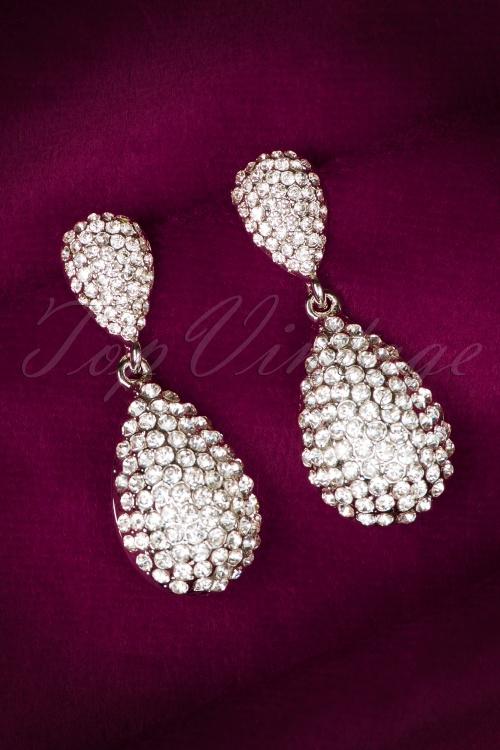Glamfemme Silver Diamond Earrings 335 92 20433 10312016 007W