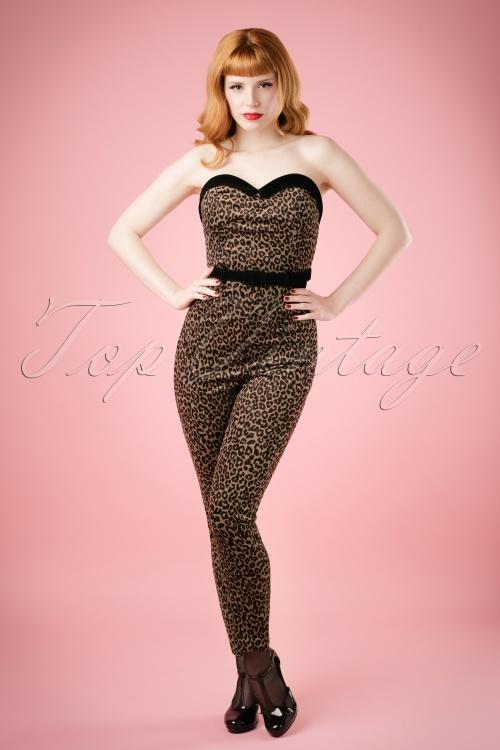 WCollectif Clothing Monica Velvet Leopard Jumpsuit 18884 20160601 001W