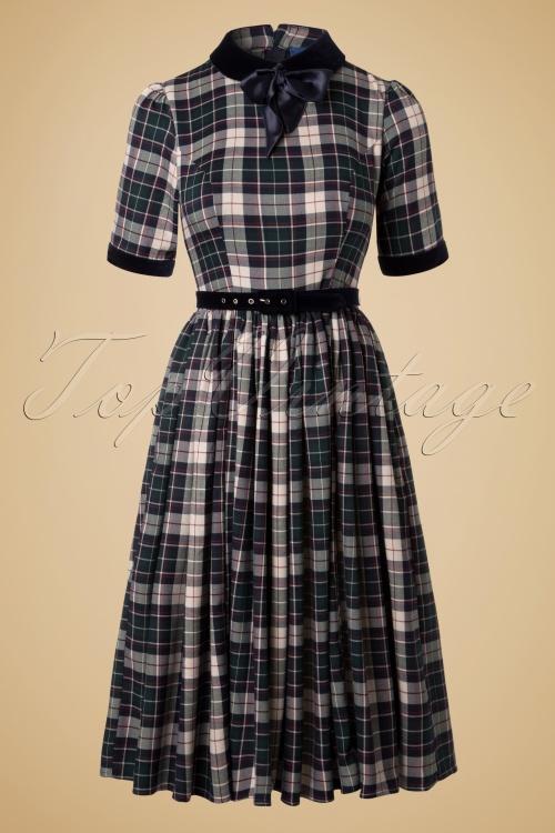 Collectif Clothing Christina Sherwood Check Swing Dress 102 49 18944 20161103 0007W