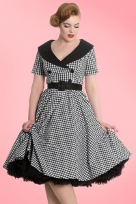 Bunny Bridget 50s Black White Checkered Dress 102 14 20036 20161103 003