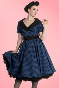 Bunny Bridget 50s Black Navy Checkered Dress 102 39 19563 20161103 001