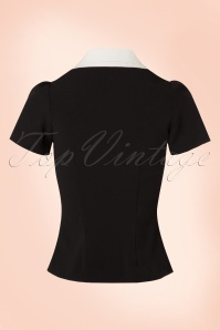 Bunny Black Blouse With White Collar 112 10 19572 20161103 0008w