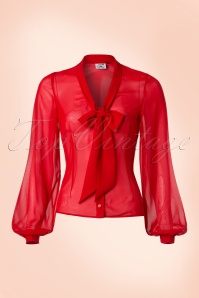 40s Lynn Blouse in Red