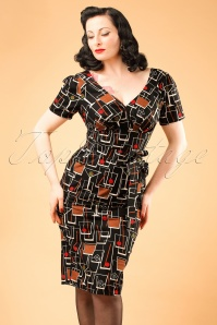 TopVintage Exclusive ~ Rita Martini Dress Années 1960 en Noir