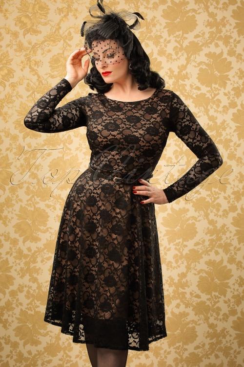 Vintage Chic 50s Sylvia Lace Pencil Dress 102 10 19621 20161010 0010WModelfotow