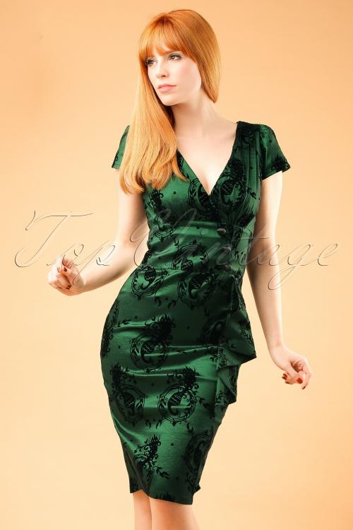 WVixen Candy Ann Green Peacock Dress 100 39 14091 20160914 0004V ModelfotoW