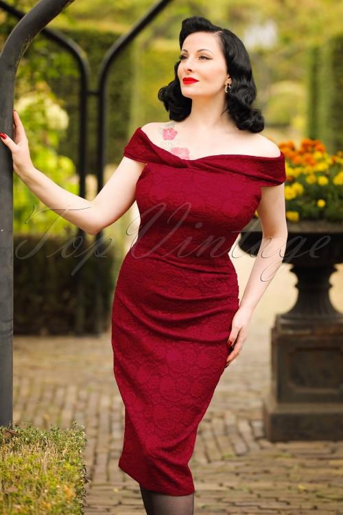 Vixen Maisie Red Lace Pencil Dress 100 20 19446 20160914 0009W modelfotoW