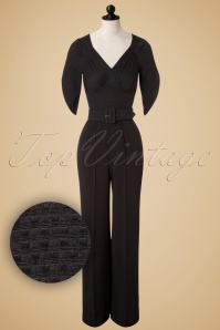 TopVintage Exclusive ~ 40s Mildred Jumpsuit in Black