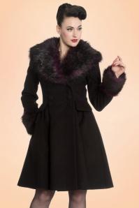 Bunny Rock Noir Coat Purple Faux Fur 152 10 19590 20161103 0016