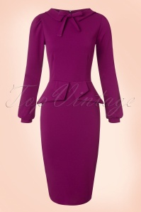Vintage Chic Scuba Crepe Dress in Amarath 100 60 19613 20161104 0011w