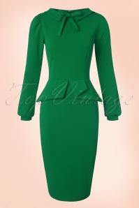 Vintage Chic Scuba Crepe Dress in Emerald 100 40 20097 20161104 0011w