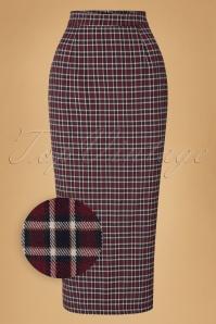 Collectif Clothing Miranda 40s Check Midi Skirt 18910 20160602 0004wv