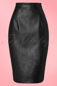 Collectif Clothing Naeemah Pencil Skirt in Black 18855 20160602 0009W