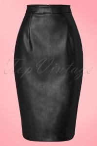 Collectif Clothing Naeemah Pencil Skirt in Black 18855 20160602 0009W