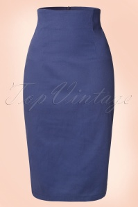 50s Fiona Pencil skirt in Navy