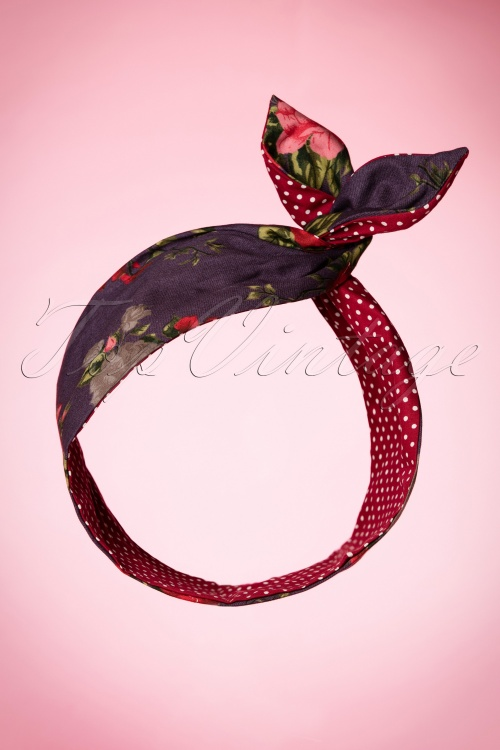 Be Bop A Hairbands Floral Polka Hairband 208 27 20505 11072016 004W