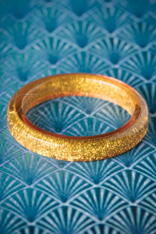 Splendette Pale Gold Glitter Bangle 310 91 20131 10062016 001W