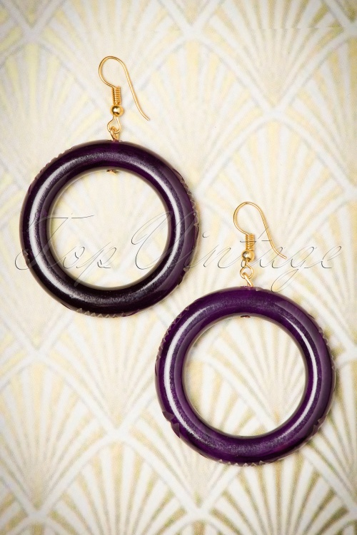 Splendette Fakelite Hoop Earrings 333 60 19927 11082016 013W