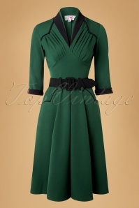Miss Candyfloss Grain Green and Black Semi Swing Dress 102 40 16244 20151014 0009w