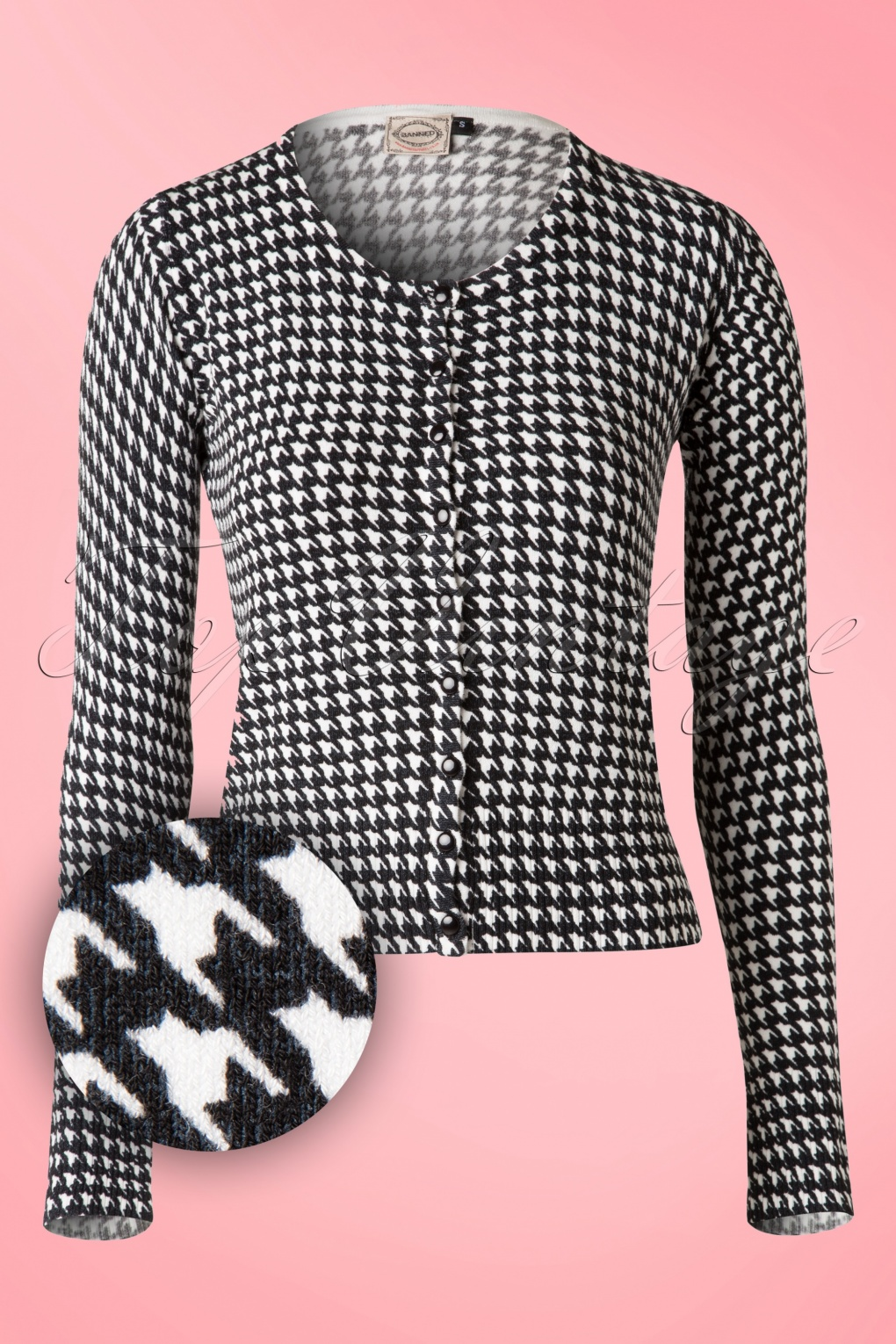1950s Style Sweaters, Crop Cardigans, Twin Sets 50s Nightscape Houndstooth Cardigan £31.80 AT vintagedancer.com
