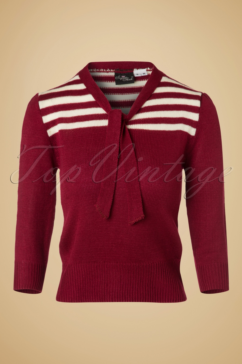Vintage Sweaters: Cable Knit, Fair Isle Cardigans & Sweaters 40s Darcey Jumper in Burgundy £35.51 AT vintagedancer.com