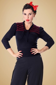 SugarShock Darcey Jumper in Navy 113 31 19424 20161107 0014