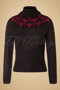 Sugar Shock Fleur Jumper in Black 113 10 19430 20161109 0002W