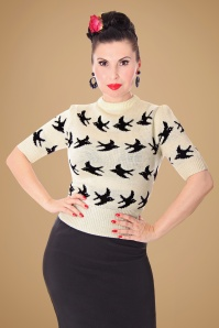 SugarShock Birdy Jumper in Creme 113 57 19428 20161109 0007
