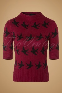 SugarShock Birdy Jumper in Red 113 27 19429 20161109 0004w