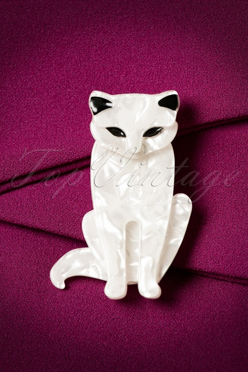 Romance Aint Dead Sitting Cat Brooch 340 50 20407 11092016 010bW