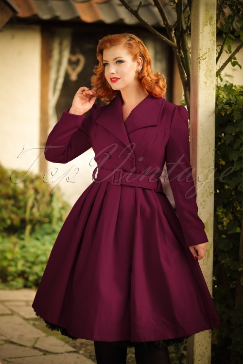 Hearts & Roses Purple Coat  152 60 20559 20161010 00020W
